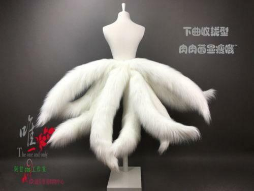 Legends LOL Ahri Nine-Tailed Cosplay faux fur fox Tails prop Halloween dress up