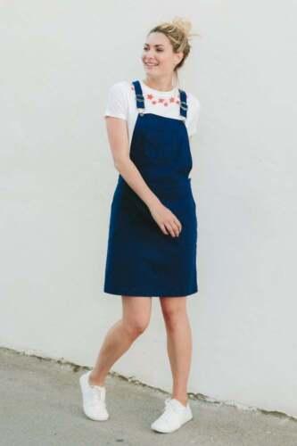 Dress Ss Blossom Uk Dungaree Sugarhill Size Apron Dh180 05 Blue 12 Navy Toni H1qZB
