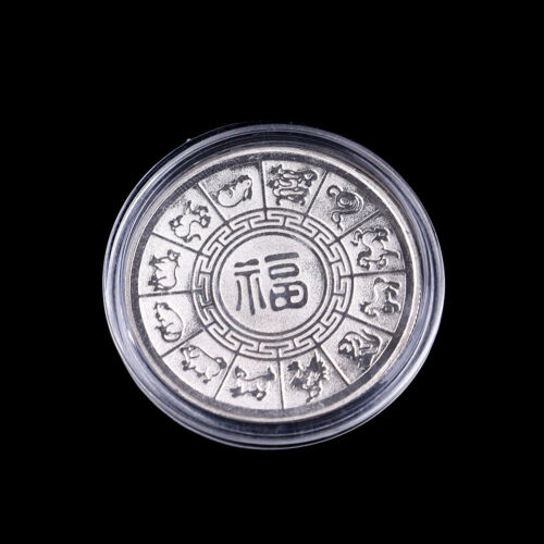Silver plated pigs commemorative coins Chinese zodiac anniversary coin souve BSC