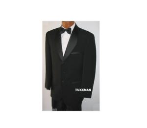 8423120551b Image is loading Black-Tuxedo-Tux-European-Diamond-Shawl-Coat-Closeouts-
