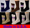 Diabetic Cushioned Crew Socks 3, 6 or 12 Pair Men's / Women's /Ladies Sizes 9-15