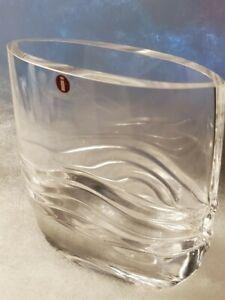 Small Iittala Glass Virrat Vase Designed By Jorma Vennola Finland Ebay
