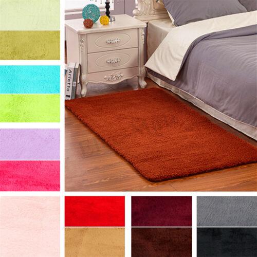 60x120cm Fluffy Rugs Anti-Skid Shaggy Area Rug Carpet Mat Living Room Bedroom !