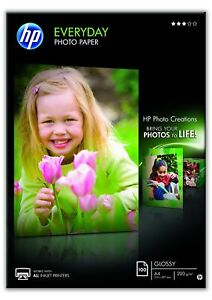 HP-Q2510A-A4-210-x-297-mm-Everyday-Glossy-Photo-Paper-200-gsm-White-100-Sheets