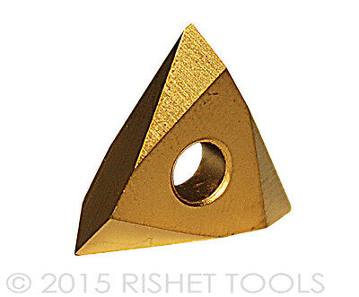 Pack of 10 RISHET TOOLS 13776 TPMC 43NV C5 Multi Layer TiN Coated Threading Carbide Inserts
