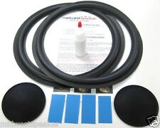 """Alon IV 12"""" Woofer Refoam Kit with shims and dust caps - Speaker Foam Repair"""