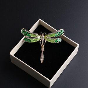 Fashion-Wedding-Bridal-Crystal-Animal-Dragonfly-Enamel-Brooch-Pin-Jewelry-Gift