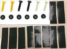 Número de matrícula Kits De Kit De Fijación Tuerca & Perno Amarillo Blanco Negro X24 y 20 Almohadillas Adhesivas