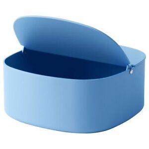 Ikea-Ypperling-Box-Bent-Open-Lid-Light-Blue-Storage