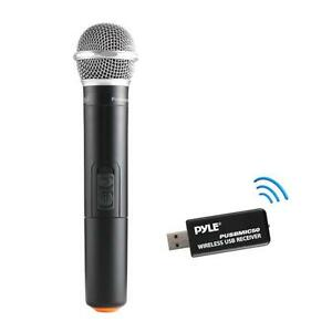 pyle pusbmic50 wireless microphone usb receiver handheld dynamic uhf mic syst 68888763493 ebay. Black Bedroom Furniture Sets. Home Design Ideas