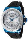 New Men's Invicta 13796 Pro Diver Silver-Tone Dial Black Polyurethane Watch