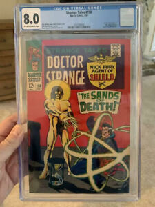 Strange-Tales-158-CGC-8-0-OW-W-Pages-1st-Full-Living-Tribunal