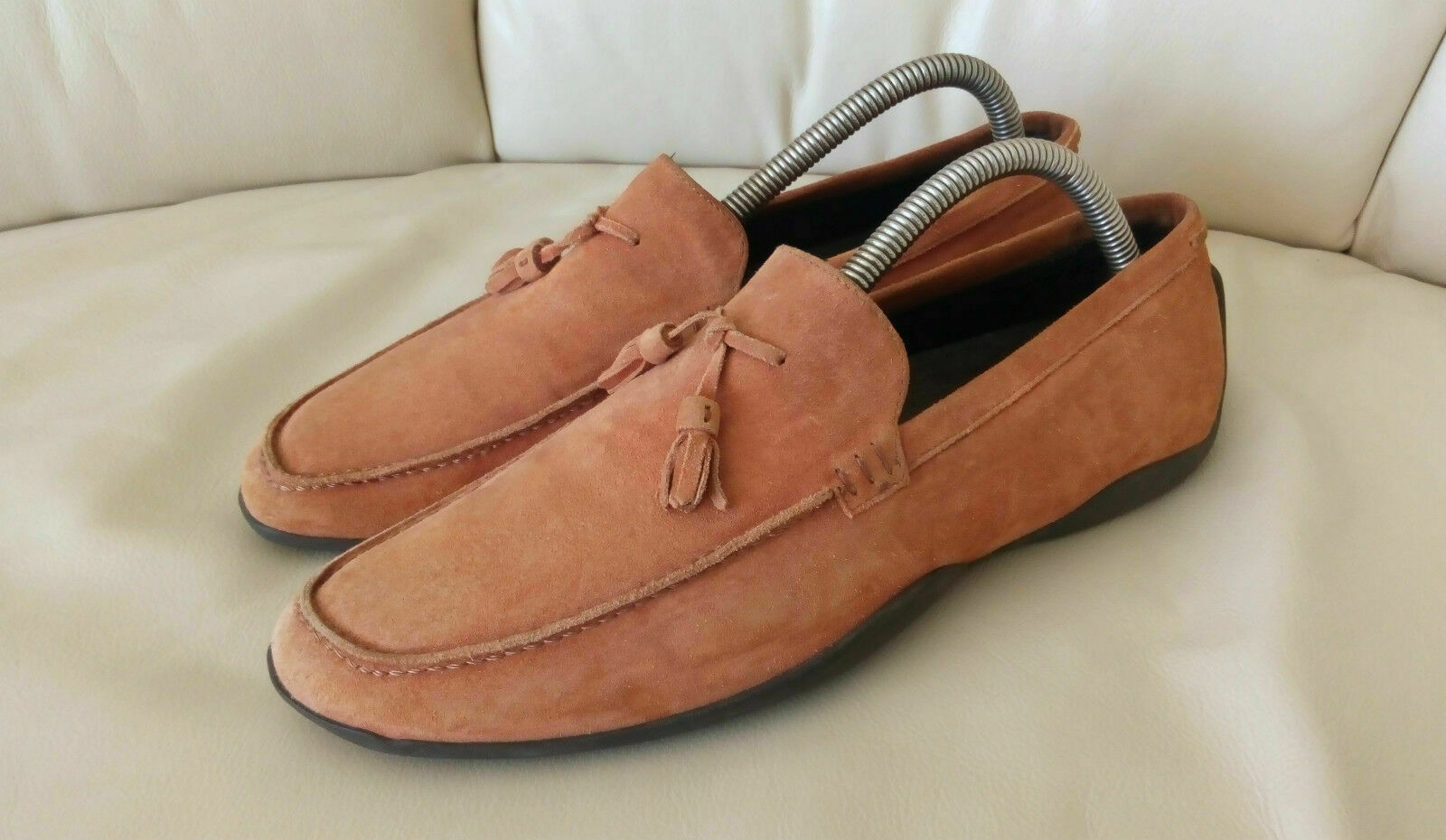 Max Mara Mocassins Pantoufles Chaussures Femmes Oliv Sienne Orange daim taille 41