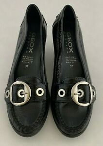 Geox Gold Respira Leather Loafer Wedges Size EU 39 (Approx. US 9) Regular (M, B)