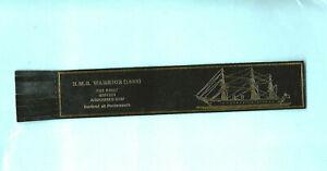 Leather-Bookmark-HMS-Warrior-Frigate-Royal-Navy-Portsmouth-British-Armoured-Ship