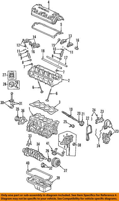 honda oem 01 05 civic engine timing camshaft cam gear 14210plm003 ebay rh ebay com
