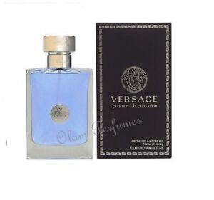 813d89ad92b07 Versace Pour Homme Deodorant Spray For Men 3.4oz 100ml   New in Box ...