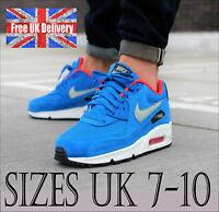 Nike AIR MAX 90 ESSENTIAL 537384 407 Electric Blue Trainers UK 7-10 / UK SELLER