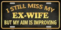 Ex Wife Novelty Metal License Plate