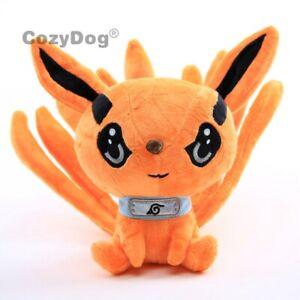 Naruto-Nine-tails-Fox-Uzumaki-Kyuubi-Kurama-Plush-Soft-Toy-Stuffed-Teddy-9-034-Doll