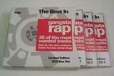 THE BEST IN GANGSTA RAP 3-CD BOX 2004 (LIMITED EDT) Eminem Dr Dre Master P 2Pac