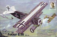 Fokker D Vii (kaizerliche Luftwaffe Aces: Blume, Stoer, neckel, Stark) 1/48 Roden