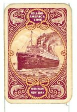 """Two Single Vintage Playing Card /""""New Zealand Shipping Co/"""" Steamship SS"""
