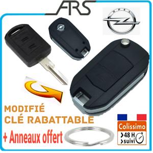 Coque-Cle-Telecommande-2-BOUTONS-OPEL-CORSA-AGILA-MERIVA-ASTRA-Plip-Anneau