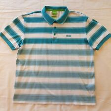 bb8160d0c Hugo Boss Green Men's Regular Fit Striped Paddy 3 Polo Shirt Red L ...