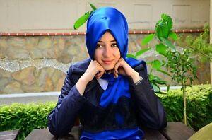 Neva Style 100% SILK Turkish Hijab Satin Lace Shawl Scarves Wrap Muslim Islamic