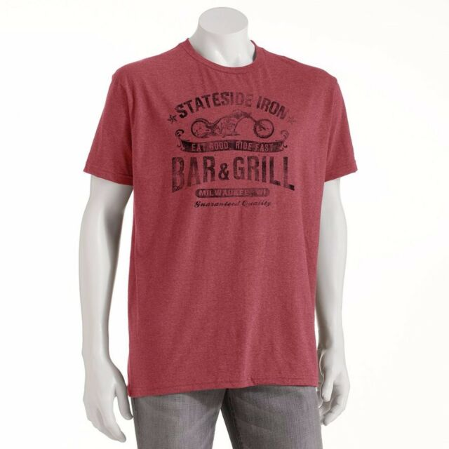 Sonoma BIG /& TALL T-Shirt Stateside Iron Bar /& Grill Milwaukee Motorcycle Tee