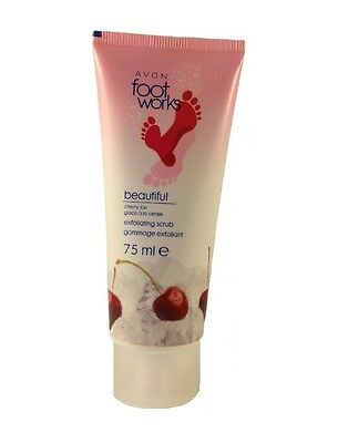 Avon Foot Scrub - Footworks Cherry Ice Exfoliating Scrub 75ml