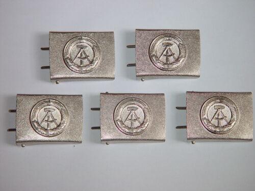 5 x NVA Koppelschloß silber für schwarzes Lederkoppel MDI Bepo VP unbenutzt