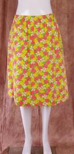 THE-LILLY-by-Lilly-Pulitzer-Vintage-Lined-Floral-Multi-color-Sz-16-Skirt