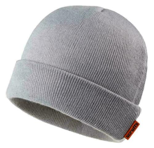 Scruffs GREY THINUSLATE HAT Mens Winter Thermal Thinsulate Lined Work Hat