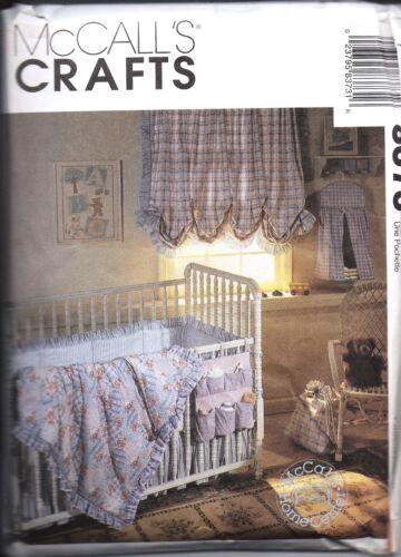 8373 UNCUT McCalls Sewing Pattern Baby Room Accessories Comforter Bumper Bag OOP