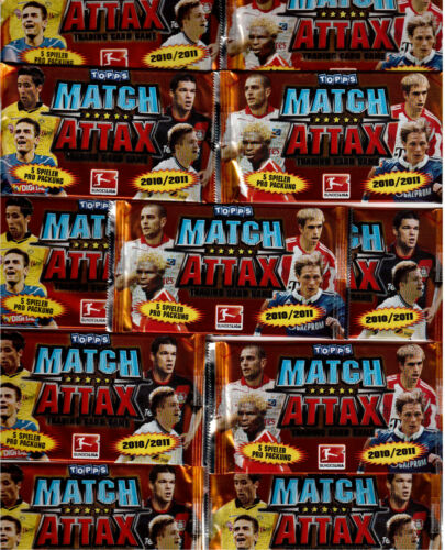 Match ATTAX//trading cards//10 pochettes emballage d/'origine//2010-2011//10-11