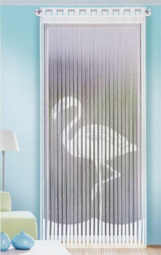 Fadenstore Flamingo Weiß H//B 230*90 cm Fensterstore Fadengardine Insektenschutz