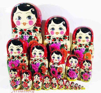 Matryoshka Russian Semenovskaya Nesting dolls Babushka Hand Painted 10pcs #20