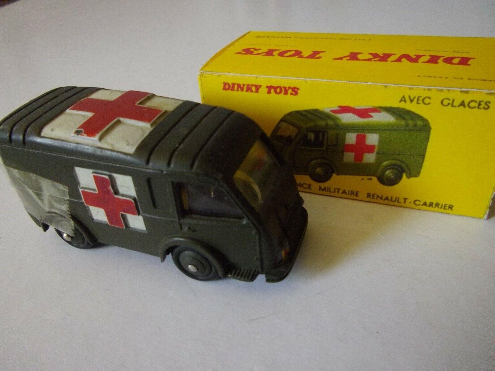 DINKY TOYS - MECCANO Ambulance Militaire avec glaces 80F + boite (repro.)