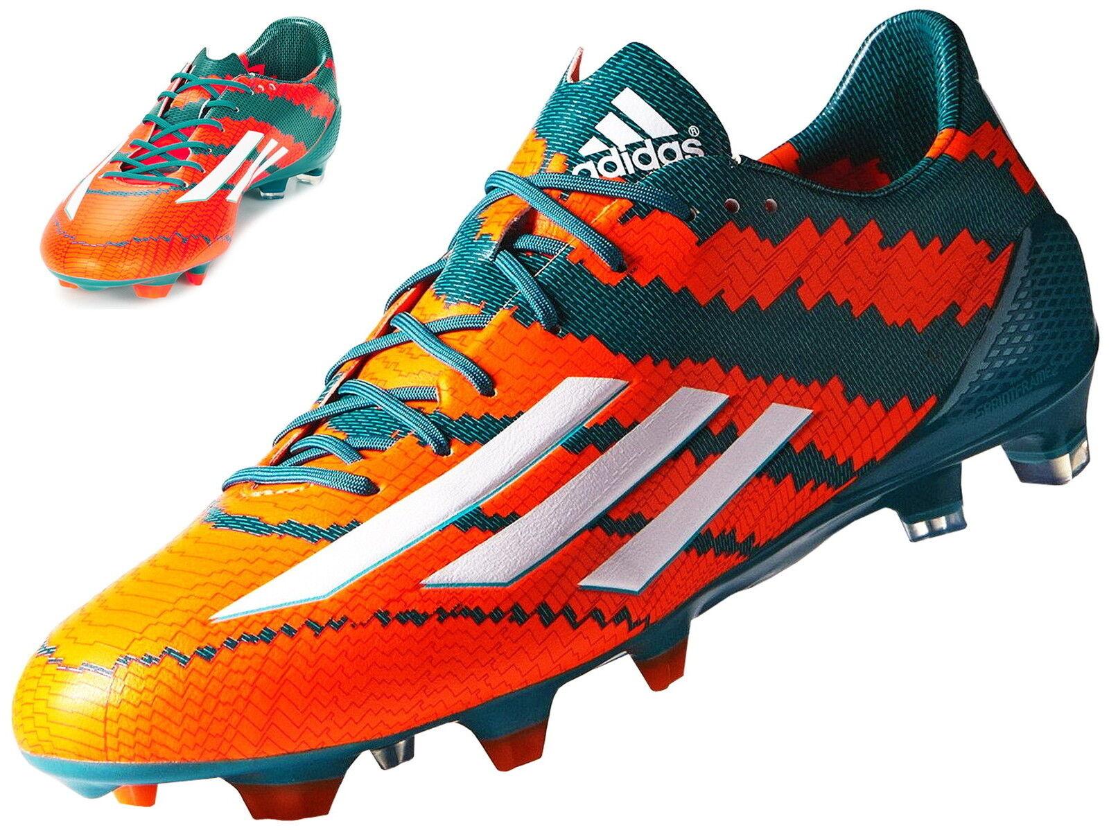 Adidas 10.1 messi FG  levas señores botas de fútbol naranja b44261  mejor calidad