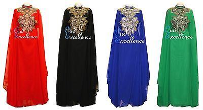 Maxi Dubai Kaftan Dress Eid Fully Lined Arabian Farasha in Several Colours