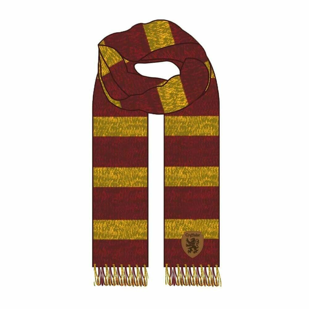 Belle Harry Potter Gryffindor House Jacquard Winter Kitted Scarf - One Size Hogwarts Beau Travail