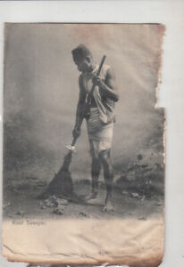 Details about British India Road Sweeper ethnic type damaged early postcard