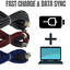 miniature 7 - 3 Pack 10Ft USB Fast Charger Cord Braided Charging Cable For iPhone 12 11 8 6 XR