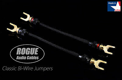 ROGUE Audio Cables Bi-Wire Jumpers Pair 12 Gauge HANDMADE IN THE USA