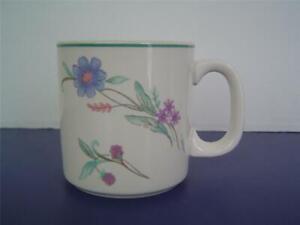 Oneida-AVA-Coffee-Mug-12-Ounce-Replacement-Cup-Blue-Purple-Floral-Nice
