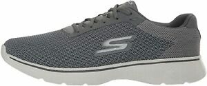 Skechers-Mens-go-Walk-4-Low-Top-Lace-Up-Walking-Shoes-Charcoal-Mesh-Size-11-5