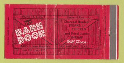 Matchbook Cover - Barn Door Restaurant San Antonio TX 30 ...