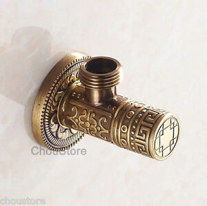 Solid-Antique-Bronze-Art-Carved-Angle-Valve-Bathroom-Faucet-Water-Check-Valve